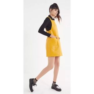 Urban Outfitters Faux Leather Pinafore Dress